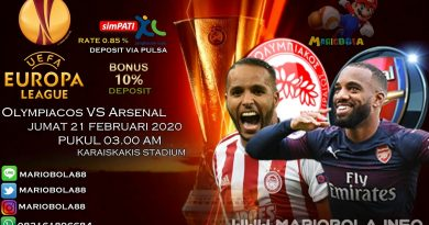 Olympiakos vs Arsenal 21 Februari 2020