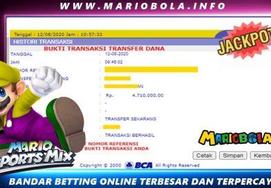 Withdraw Kemenangan MARIOBOLA 12 Agustust 2020