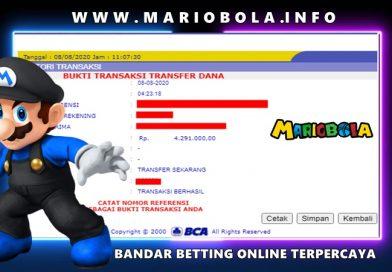 Withdraw Kemenangan MARIOBOLA 08 Agustust 2020