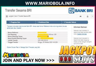 Jackpot Kemenangan SLOT JDB  25 Oktober